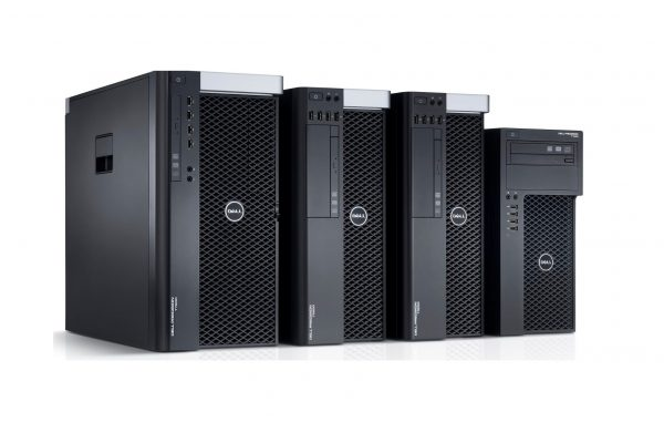 Dell Precision Tower Workstation Family.  Features T7600, T5600, T3600, and T1650 tower workstations.